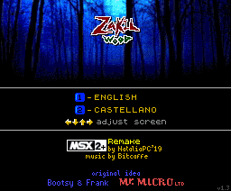 Zakil Wood MSX2+ Remake by NatialiaPC